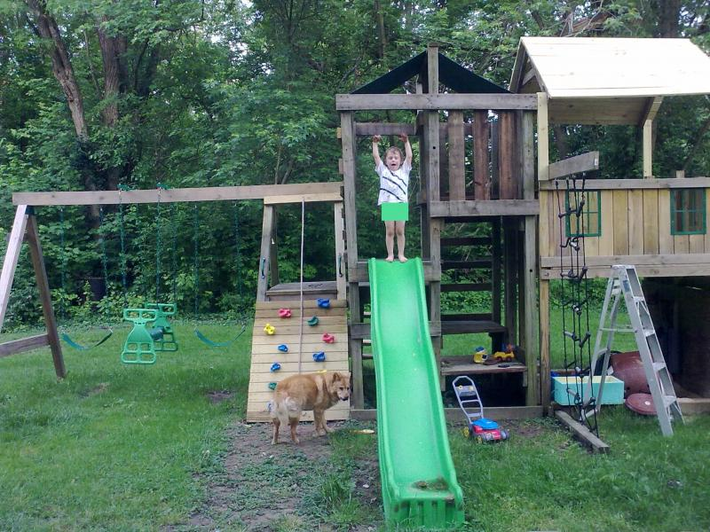 Build a Wooden Swing Set / Swing Set Plans / Hardware Kit / Blueprint